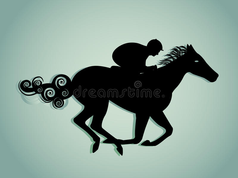 Download Horse and Rider stock vector. Illustration of blurry - 27631804