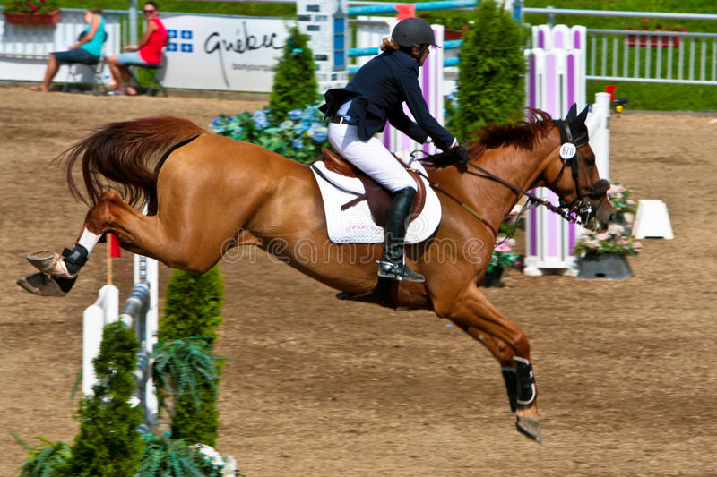 Download Horse Rider At The Bromont Jumping Competition Editorial Photography - Image of circuit, championship: 20752077