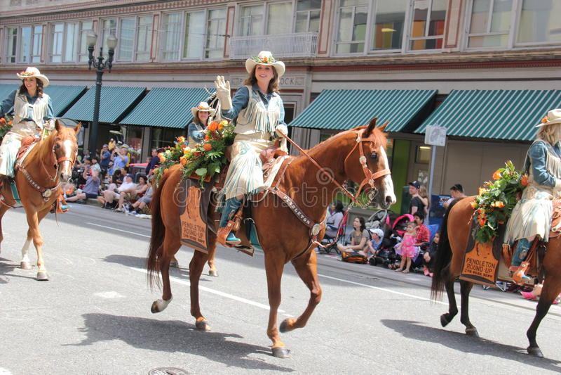 Horse rider. Morse rider in the Rose Grand Parade 6,6,15 royalty free stock photos