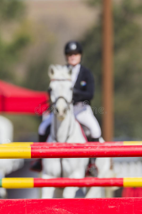 Horse Rider Poles stock images