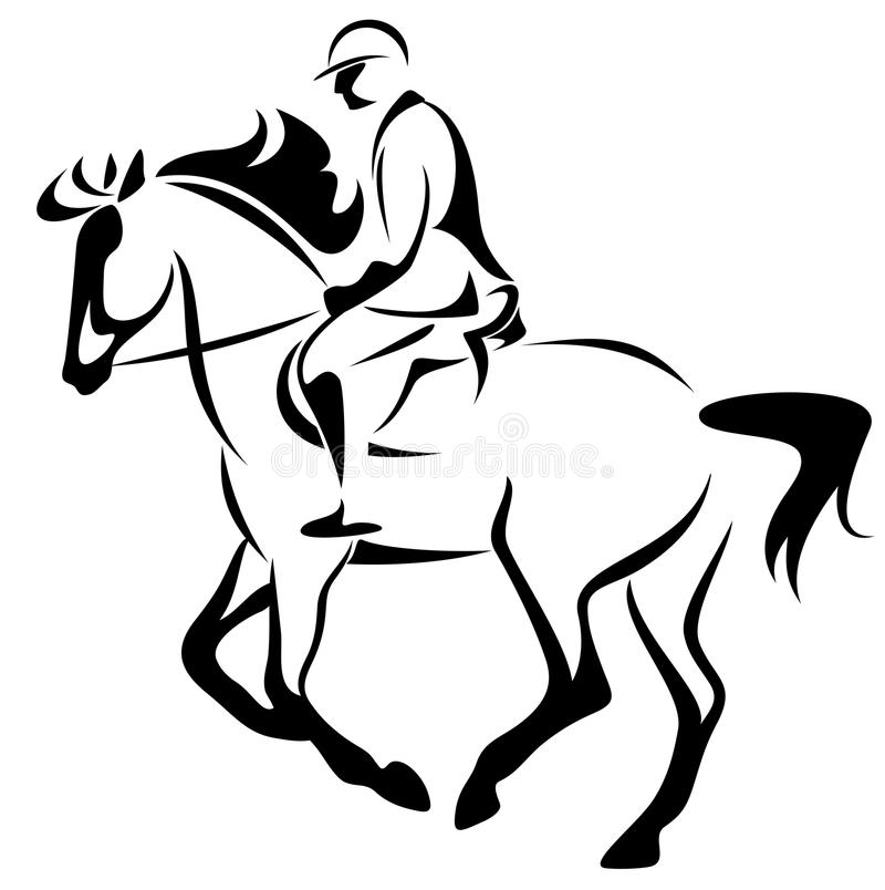 Horse rider vector royalty free illustration