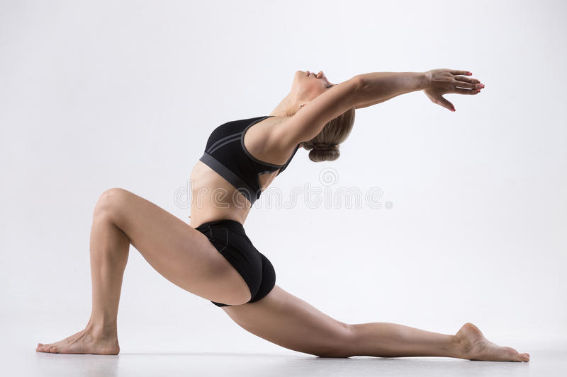 Horse rider yoga pose stock photography