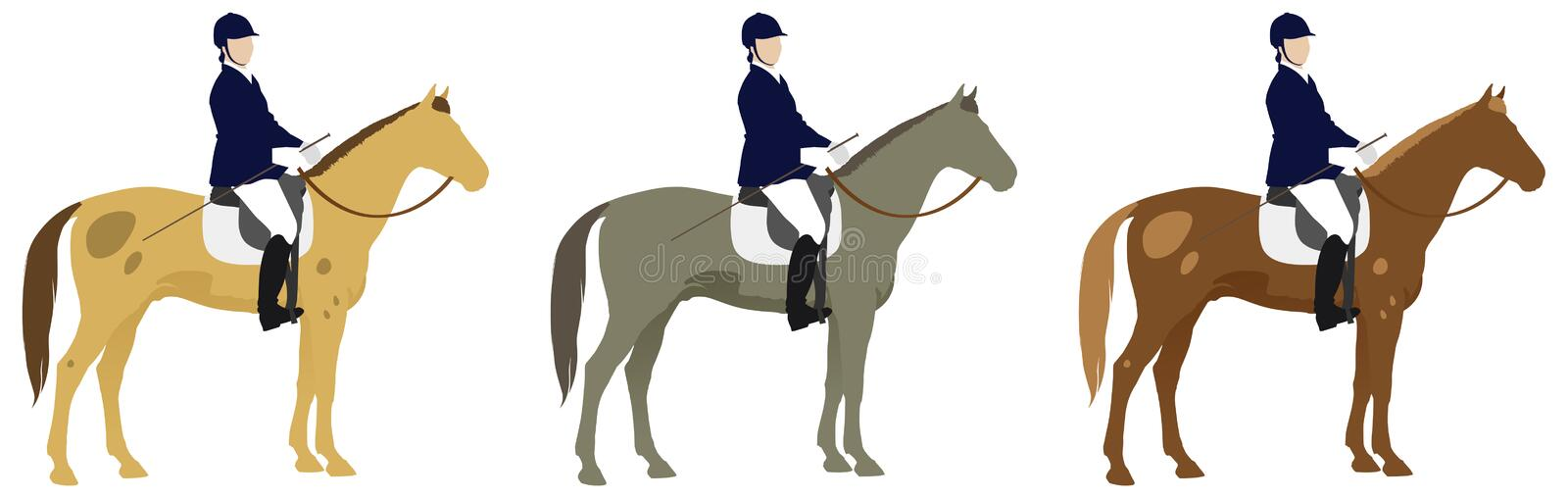 Horse riders stock illustration