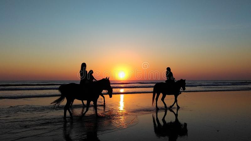 Horse Riders At Sunset Free Public Domain Cc0 Image