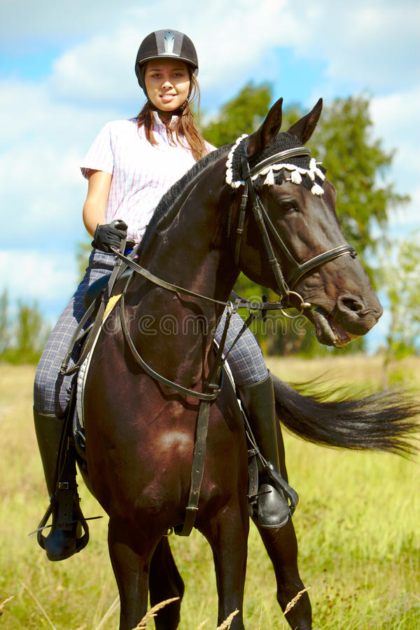 Download Horse riding stock photo. Image of jockey, black, horse - 15968114