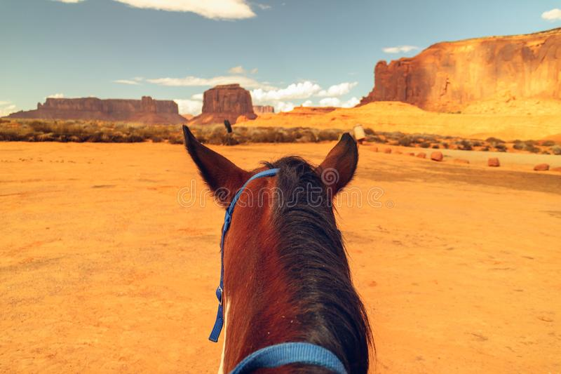 Monument Valley Horse Riding royalty free stock photos