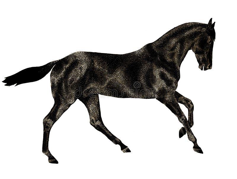 Horse_run ilustração do vetor