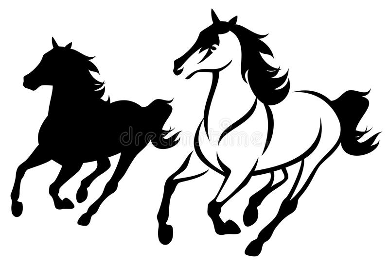 Horse run stock vector. Illustration of mare, free, front ... - photo#21