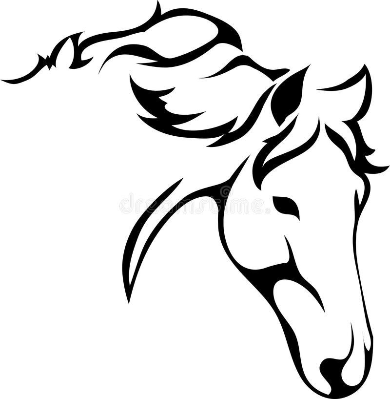 A horses head stock illustration