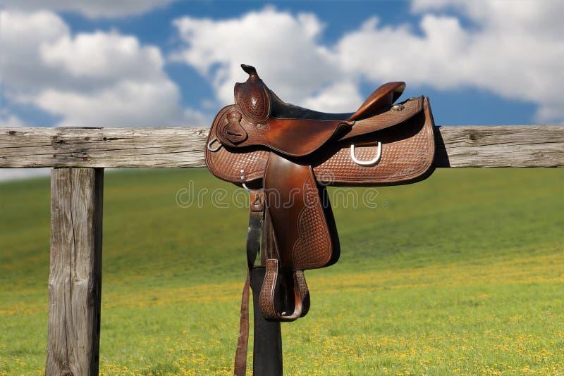 Horse saddle royalty free stock photo