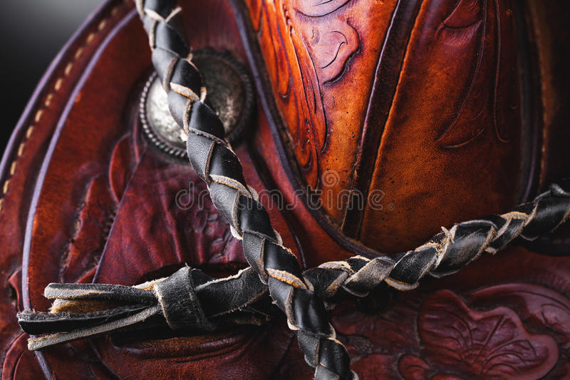 Horse saddle stock image