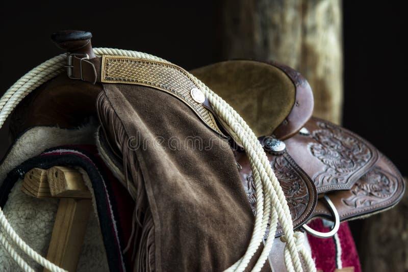 Horse saddle stock photos