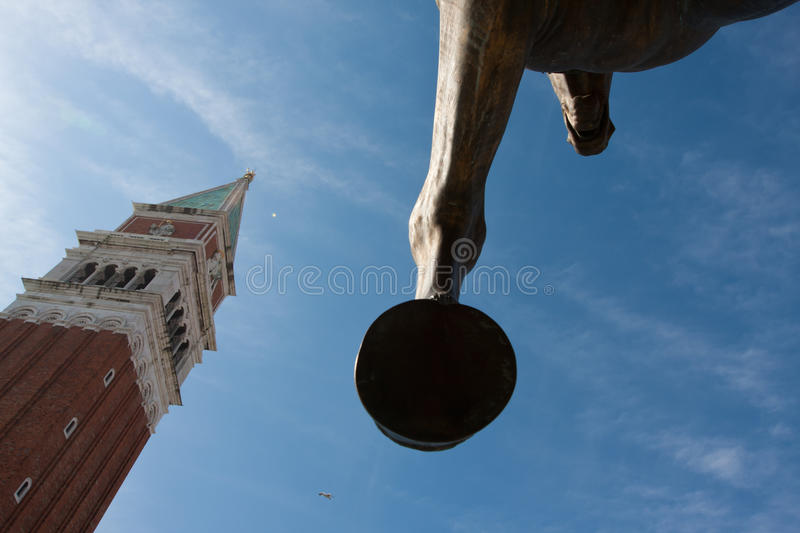 Horse Sculpture In Venice Italy Stock Photo
