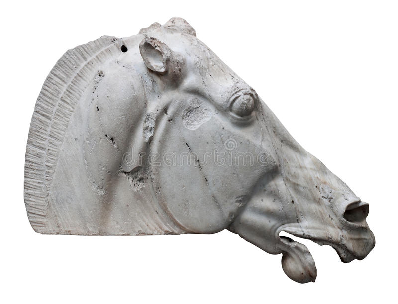 The Horse of Selene from the Parthenon in Athens stock photos