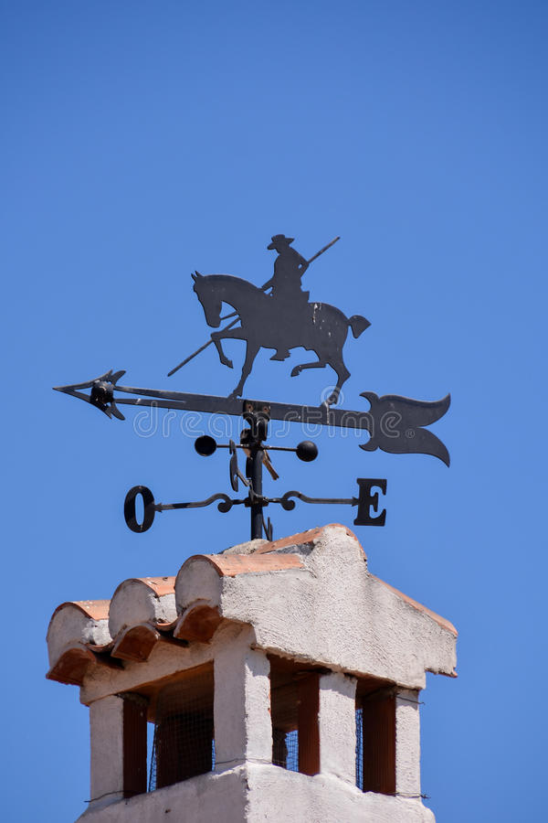 Horse-shaped weather vane. Photo picture of a Horse-shaped weather vane royalty free stock photo
