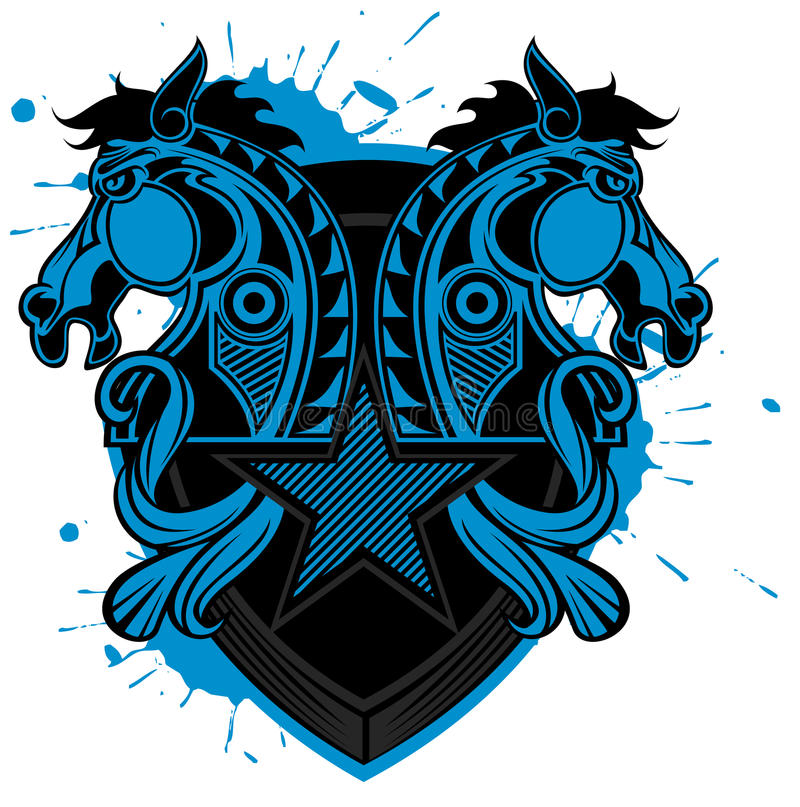 Horse shield pattern. Created by Adove Illustrator software vector illustration