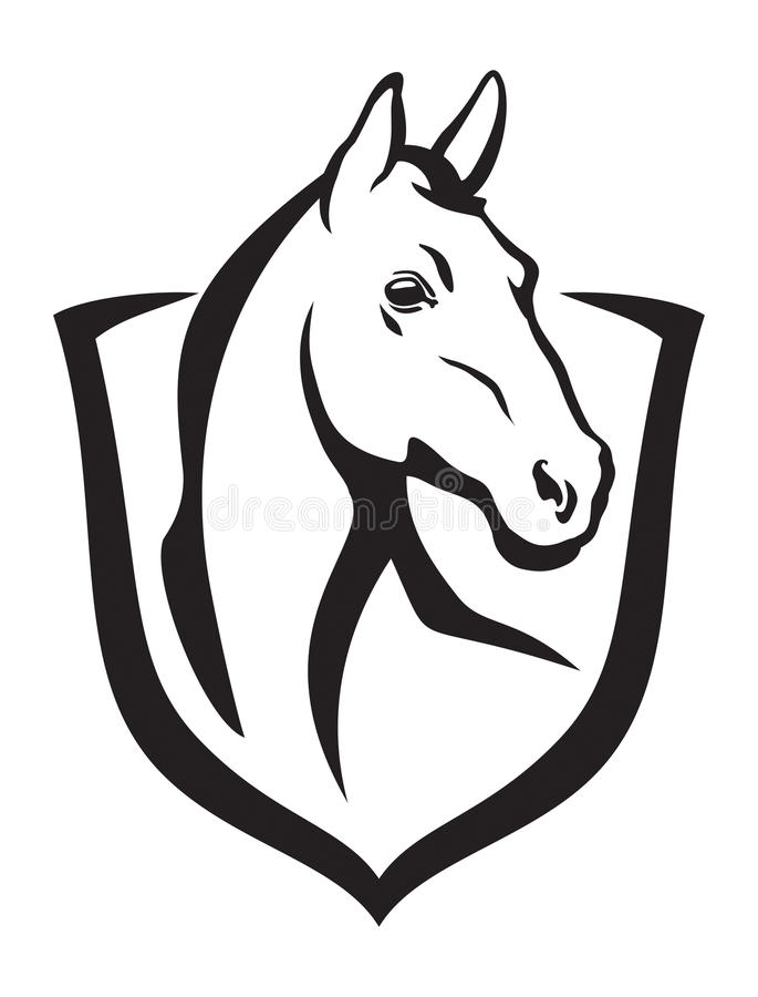 Horse and shield royalty free stock photography