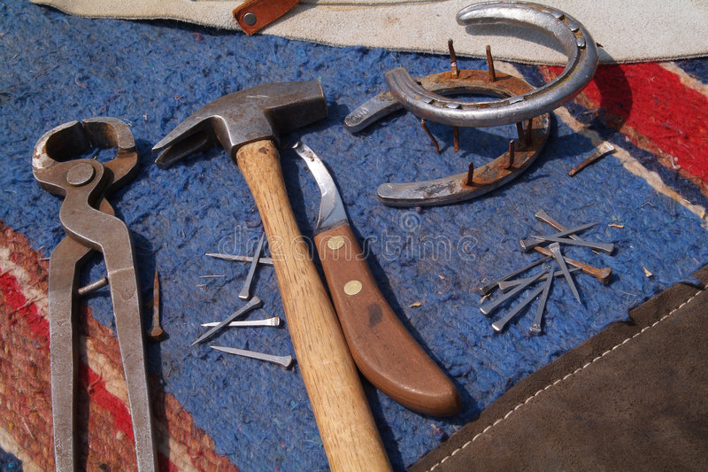 Horse Shoeing Tools royalty free stock photos