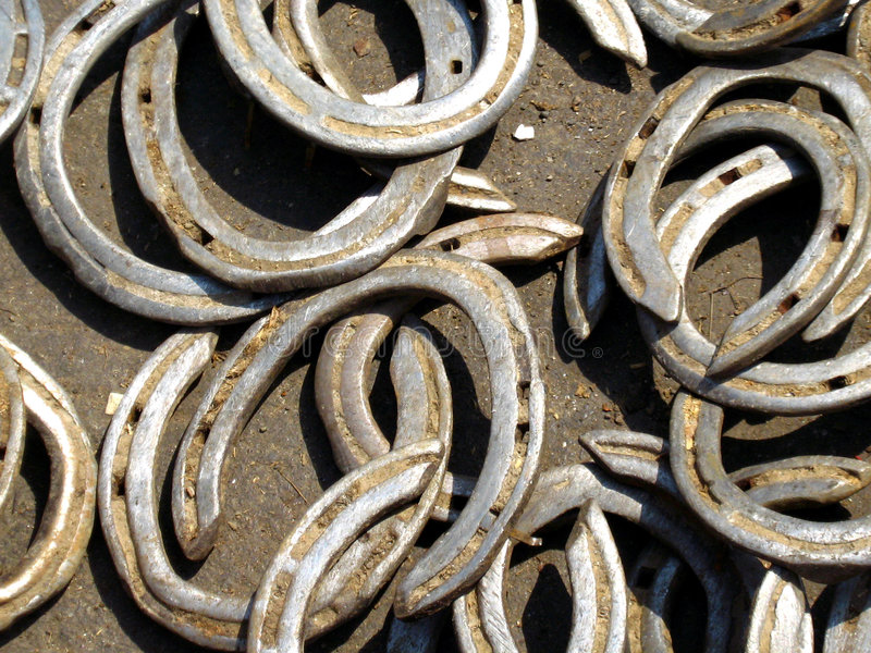 Horse Shoes for Sale royalty free stock images