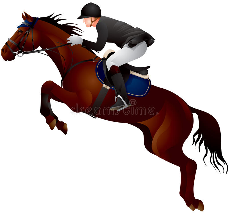 Download Horse Show jumping stock vector. Illustration of rider - 27252558