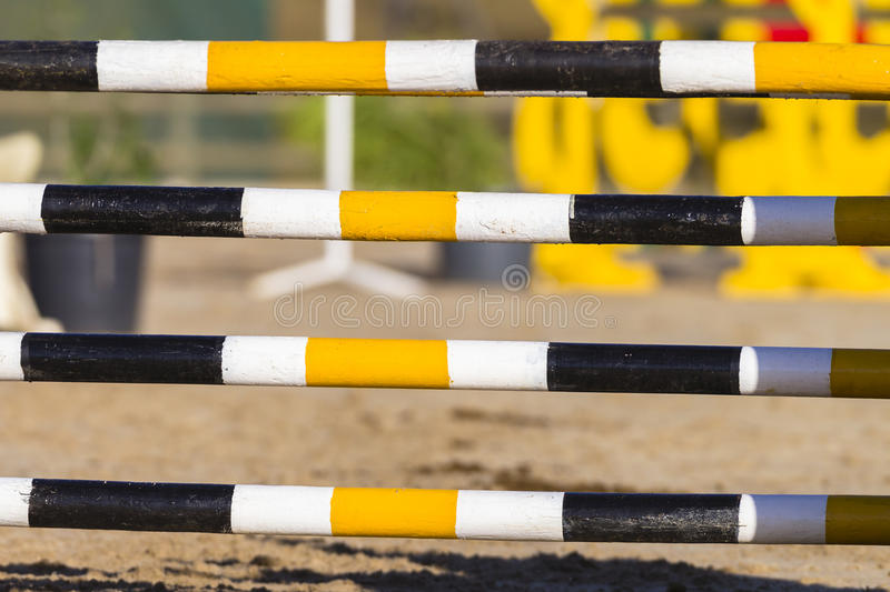 Horse Show Jumping Poles royalty free stock images