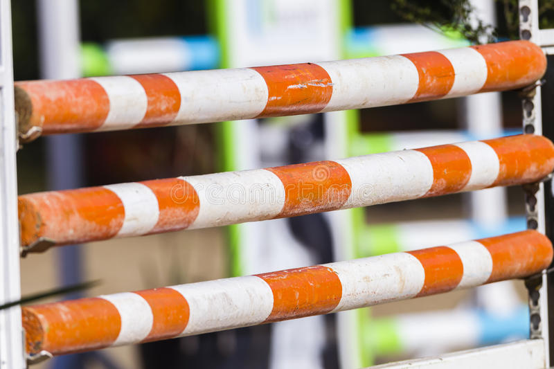 Horse Show Jumping Poles royalty free stock photography