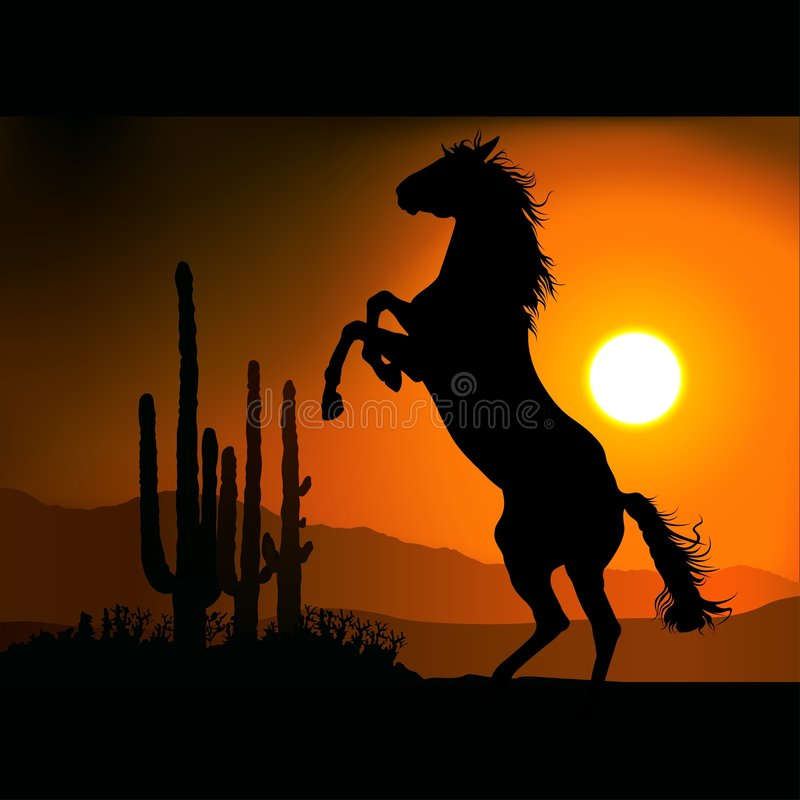 Free Horse Silhouette A Royalty Free Stock Photo - 1695025