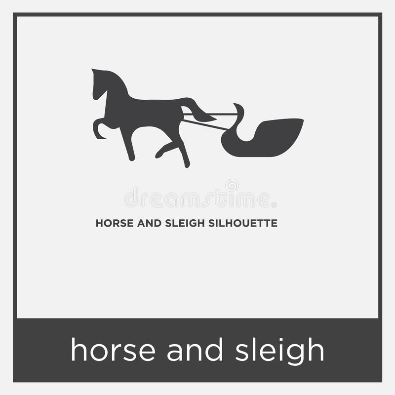 Horse And Sleigh Icon Isolated On White Background Stock