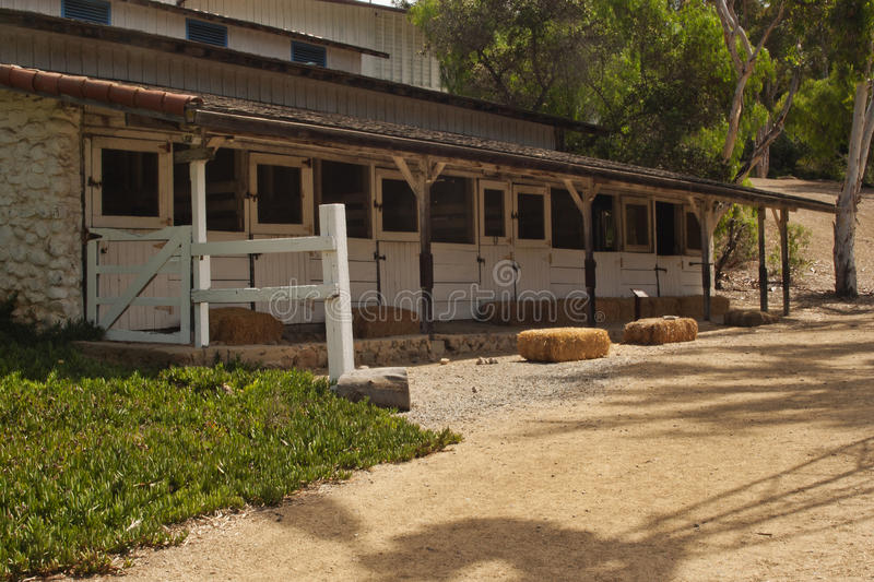 Horse stables at the Leo Carrillo royalty free stock image