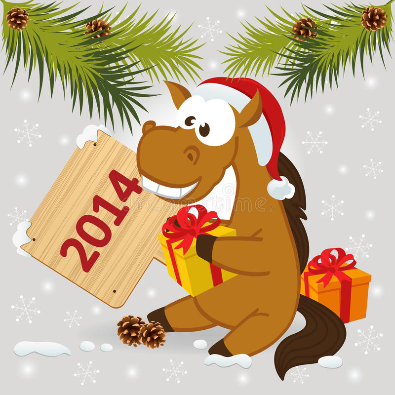 Horse symbol of 2014 year royalty free stock images
