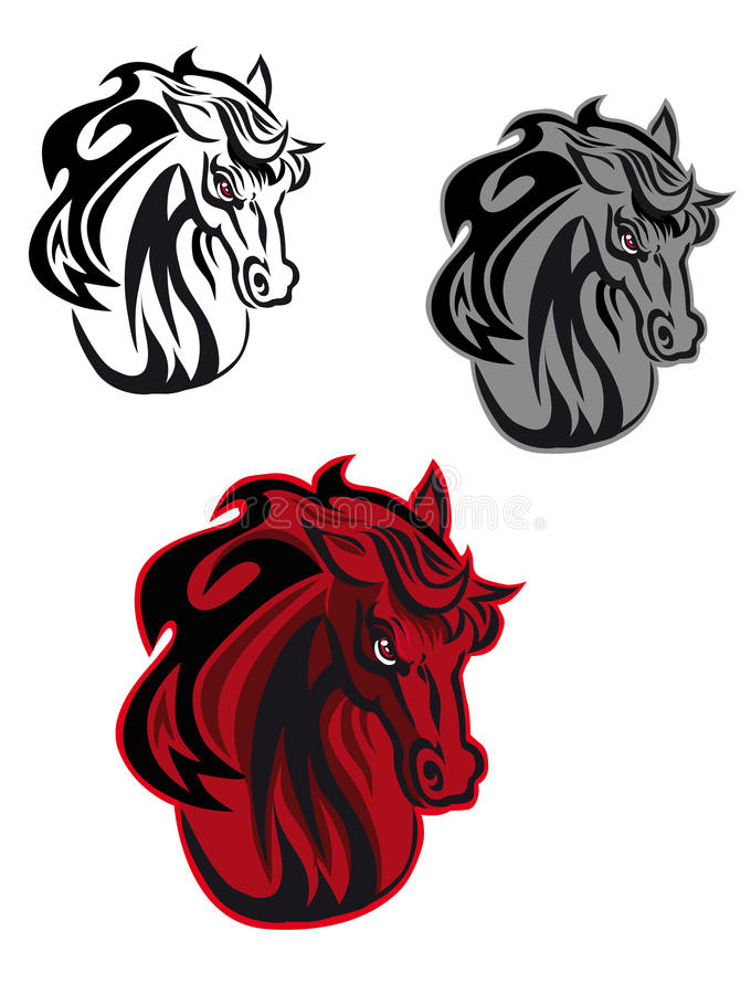 Horse tattoo stock images