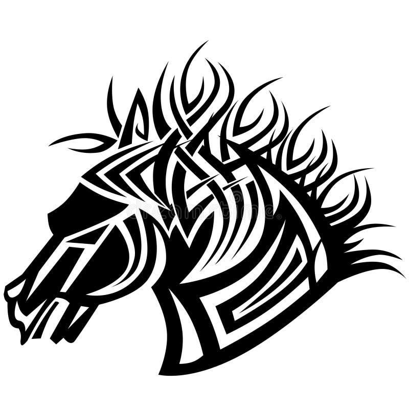 Horse tattoo stock image