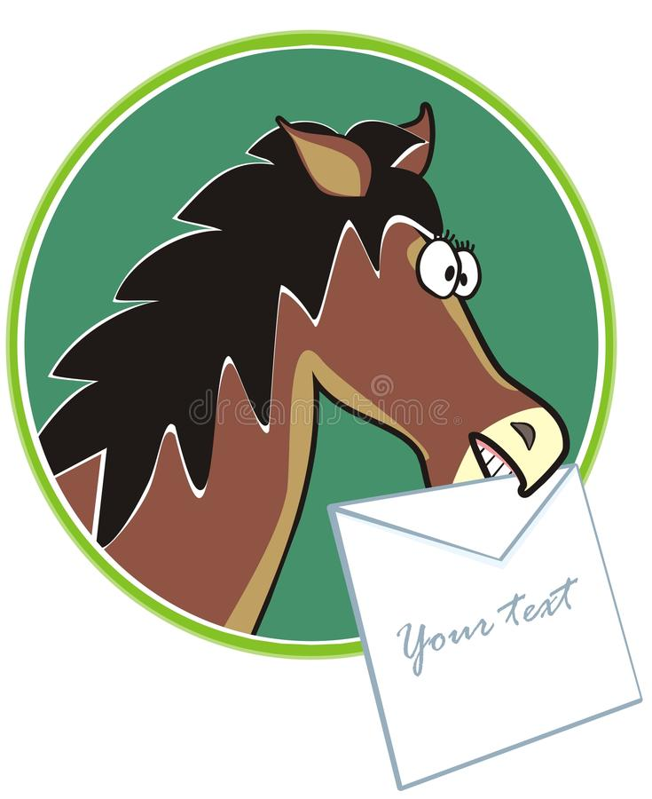 Horse - Text Royalty Free Stock Images