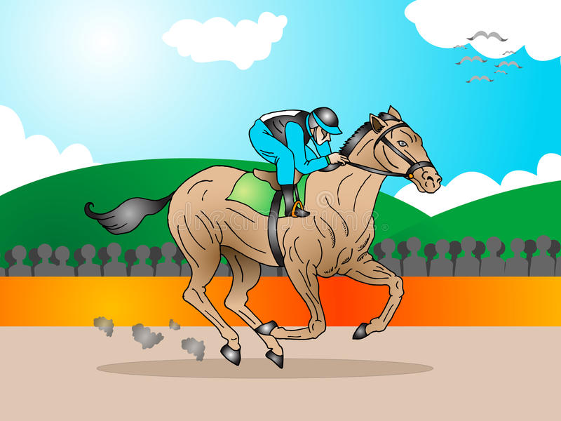 Download Horse in a tournament race stock illustration. Image of active - 11057971