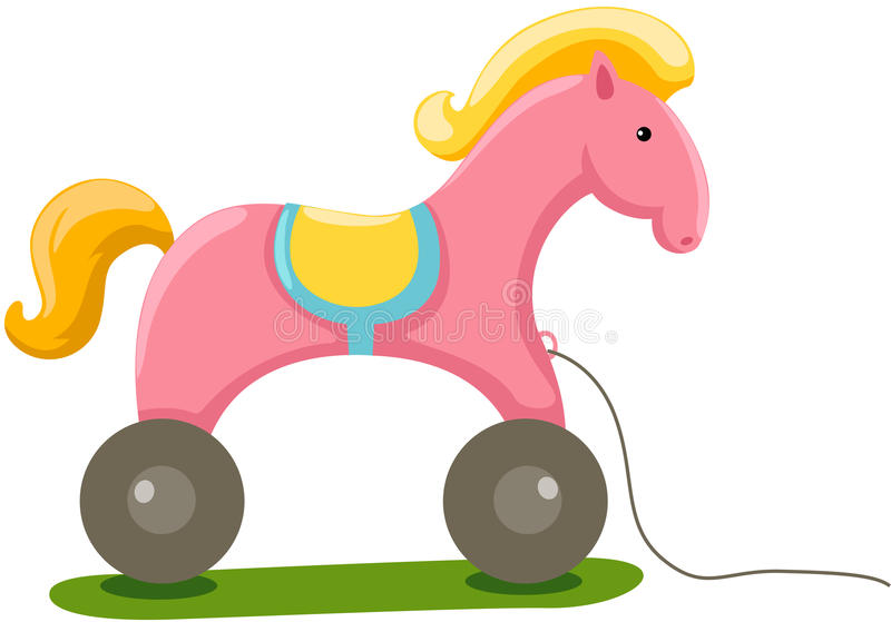 Download Horse toy stock illustration. Image of childhood, playground - 23380119