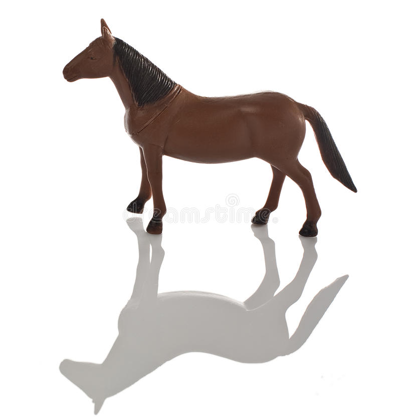 Brown Horse Toy Plastic Stock Images