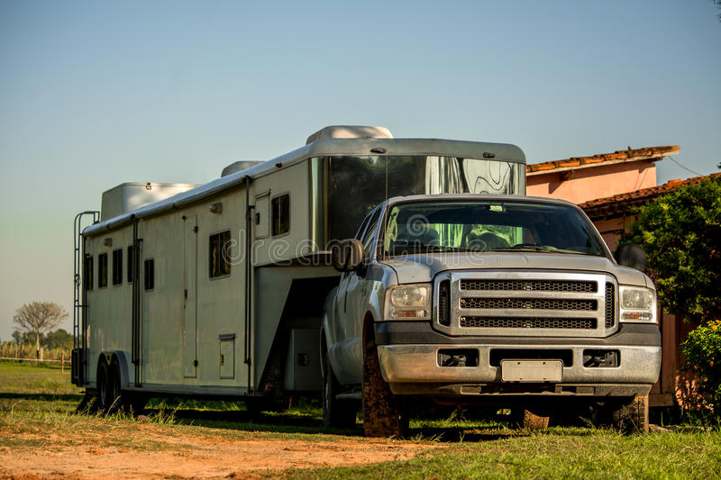 Download Horse Trailer stock image. Image of equine, drive, brazilian - 34607461