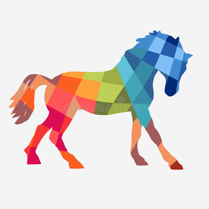 Horse Vector Geometric Shapes Stock Vector - Illustration of horse ...