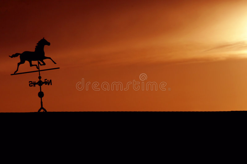 Download Horse Weathervane Silhouette At Sunset Stock Image - Image: 2055547