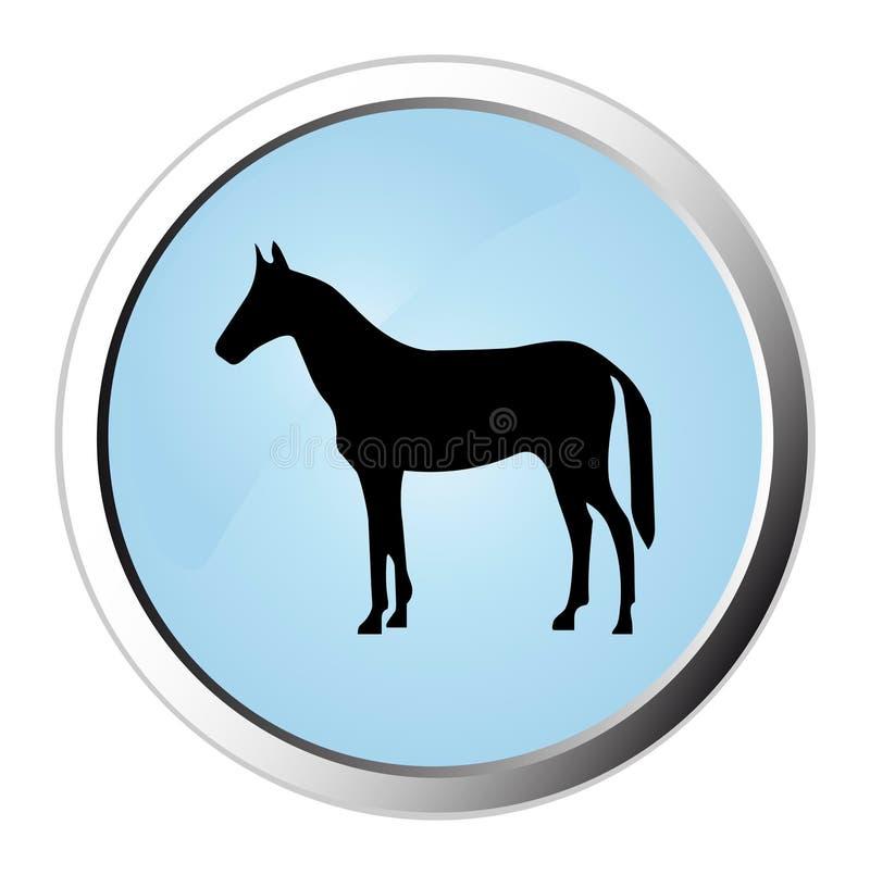 Free Horse Web Button Royalty Free Stock Photo - 9324625