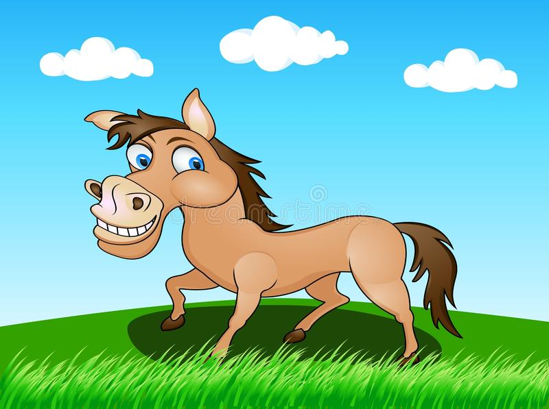 Download Horse in the wild stock vector. Image of group, illustration - 24537600