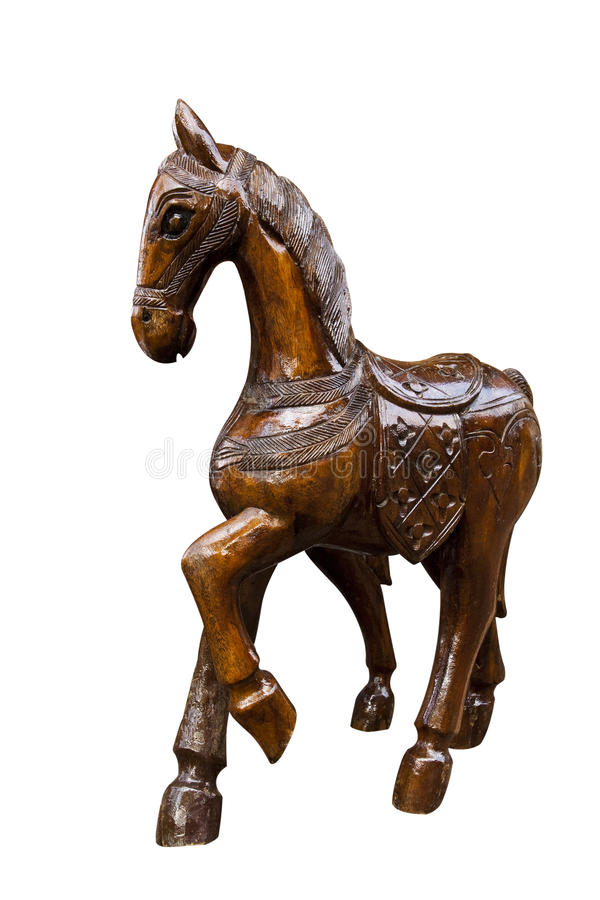 Horse wood carved royalty free stock image
