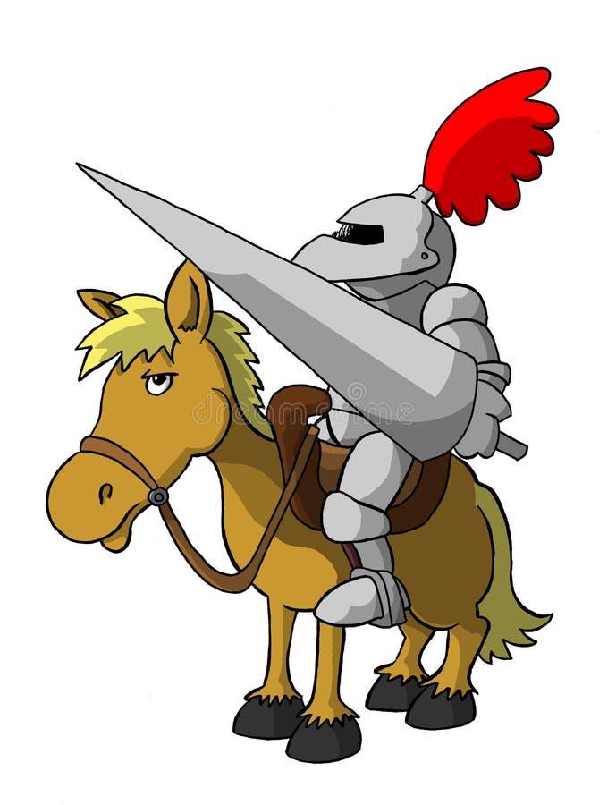 horseback рыцарь иллюстрация вектора