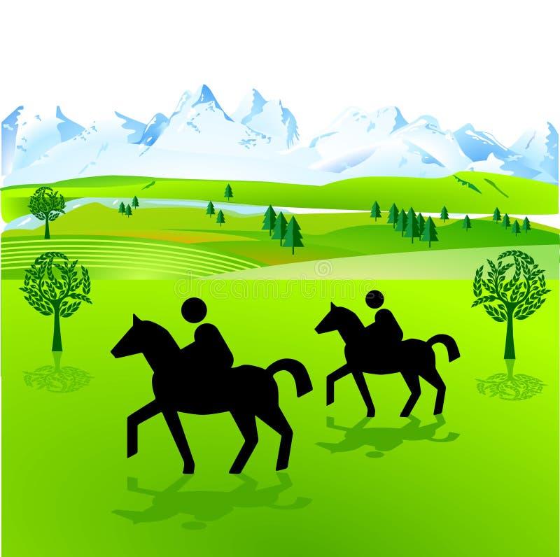 horseback иллюстрация штока