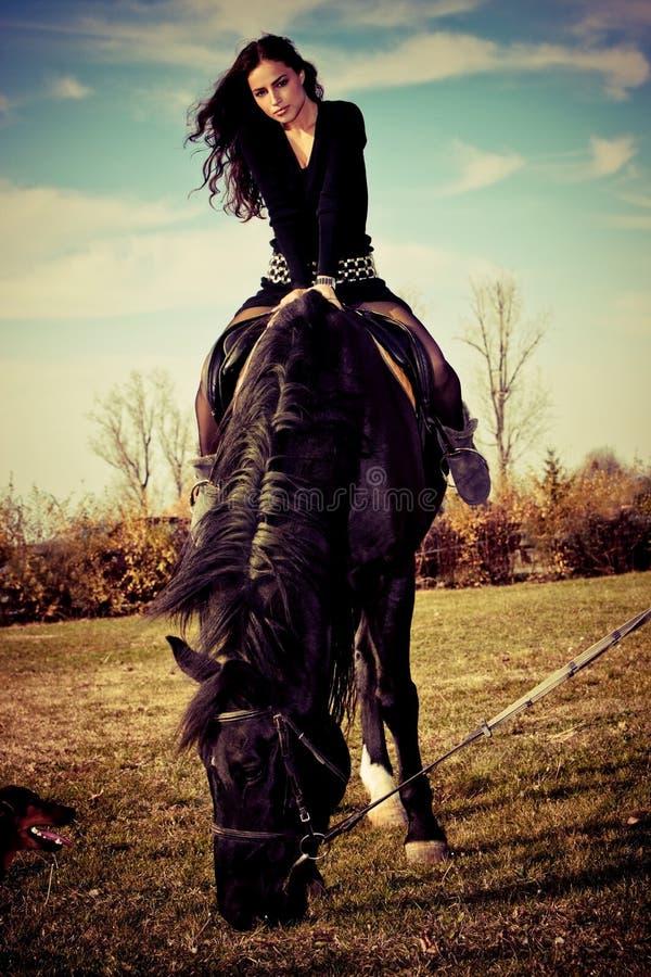 Download On a horseback stock image. Image of freedom, enjoyment - 16903679