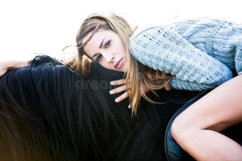 On A Horseback Royalty Free Stock Photos