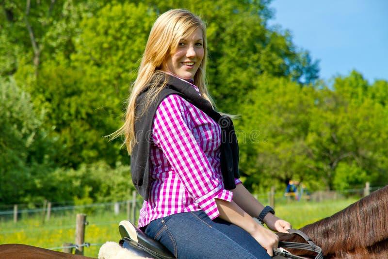 Horseback ride royalty free stock photo