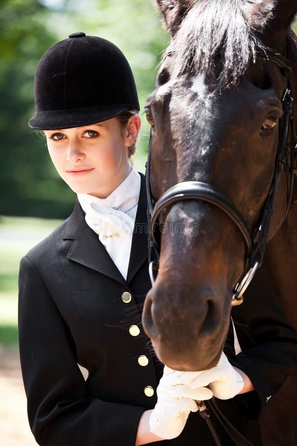 Download Horseback riding girl stock image. Image of elegant, beautiful - 10820247