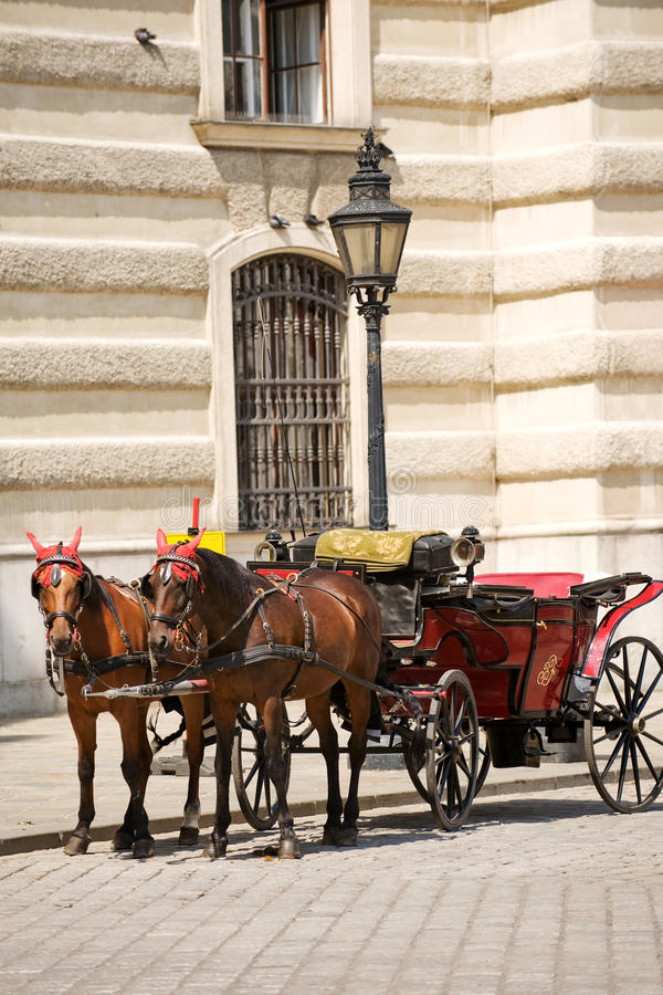Horsedrawn carriage royalty free stock images