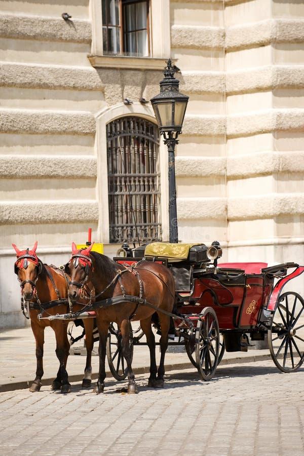 Horsedrawn vervoer royalty-vrije stock afbeeldingen